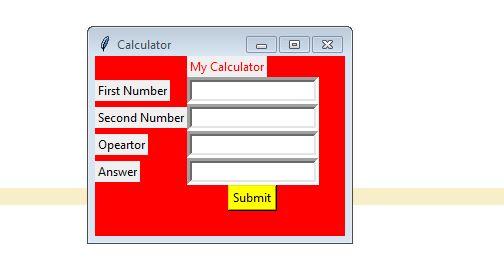 Simple Gui Calculator in python