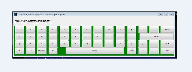 How to create virtual onscreen keyboard using python and tkinter