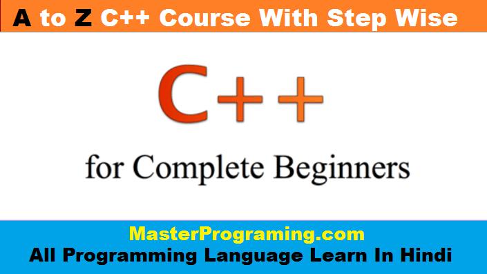 C++ full course