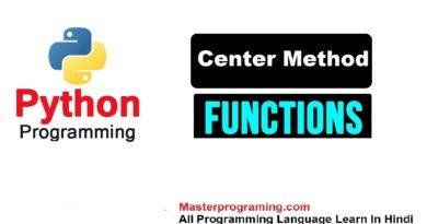 Python String center() in Hindi