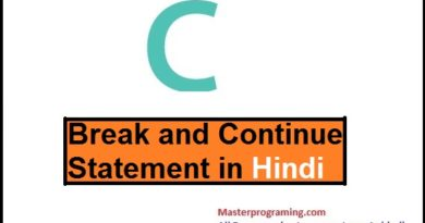 break and continue statement in hindi
