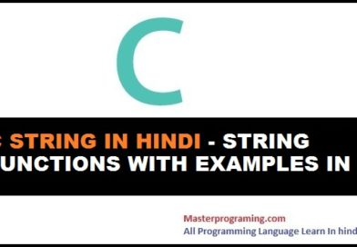 C String in Hindi   string functions with examples in c