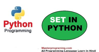 SET IN PYTHON IN HINDI