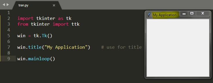 Python Tkinter Tutorial