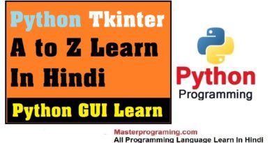 Python Tkinter Tutorial in Hindi