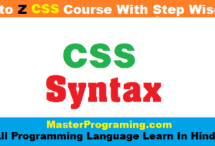 CSS Syntax in Hindi
