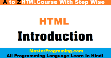Introduction of Html In Hindi