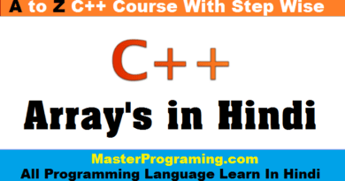 Array in Cpp In Hindi