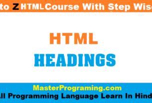 html heading in hindi