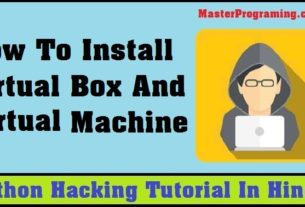 How To Install Virtual Box And Virtual Machine