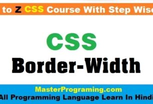 CSS Border Width