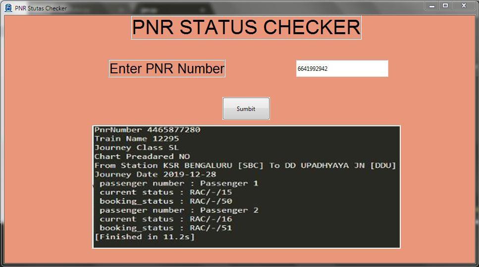 PNR Status In Python
