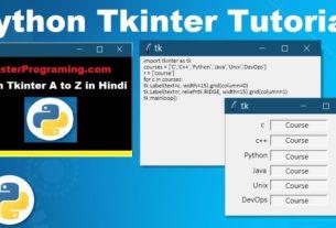 Python Tkinter In Hindi