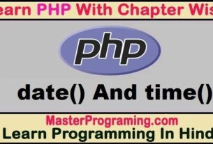 PHP Date And Time